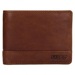 Pánská kožená peněženka Lagen Pavelos – hnědá 19612