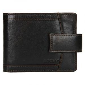 Pánská kožená peněženka Lagen Alsung – tmavě hnědá 19611