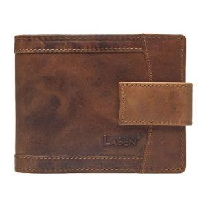 Pánská kožená peněženka Lagen Alsung – světle hnědá 19610