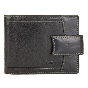 Pánská kožená peněženka Lagen Alsung – černá 19609