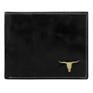 Pánská kožená peněženka Wild Buffalo Bohuš – černá 19777