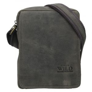 Pánská taška přes rameno Always Wild Ceasar – černo-šedá 17622