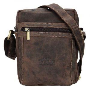 Pánská taška přes rameno Always Wild Freddy – tmavě hnědá 17199