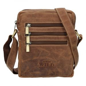 Pánská taška přes rameno Always Wild Emil – světle hnědá 15808