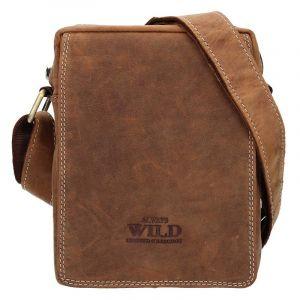 Pánská taška přes rameno Always Wild Tibor – světle hnědá 12921