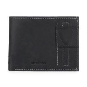 Strellson Pánská kožená peněženka Richmond 4010001306 – černá p5074