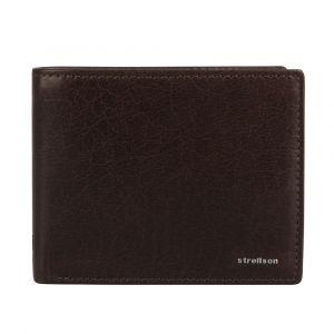 Strellson Pánská kožená peněženka Jefferson 4010001301 tmavě hnědá p3825