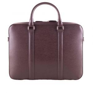 Kožená taška na notebook John&Paul – tmavě hnědá p12567