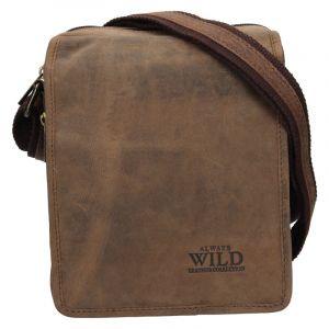 Pánská taška přes rameno Always Wild Jaren – hnědá 19841