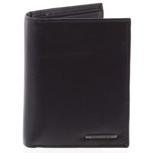 Pánská hladká kožená peněženka černá – Bellugio Cadmus černá 78721