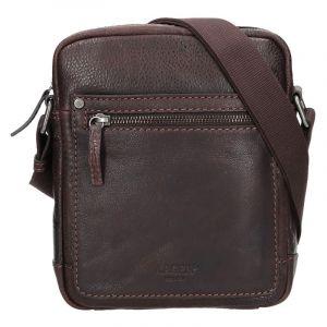 Pánská kožená taška přes rameno Lagen Dennis – hnědá 14172