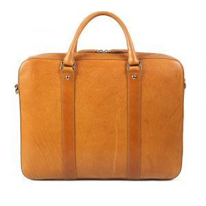 Výprodej: Kožená taška na notebook John&Paul – světle hnědá (vachetta) p6959