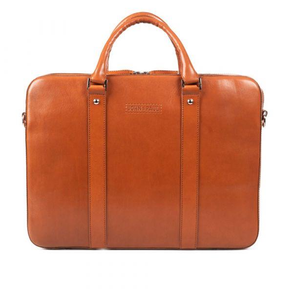 Výprodej: Kožená taška na notebook John&Paul – koňak (vachetta) p11707