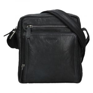 Pánská kožená taška přes rameno Lagen Čestmír – černá 16814