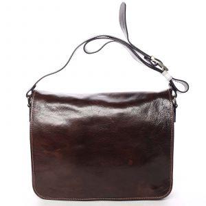Větší pracovní kožená taška hnědá – ItalY Equado Achilles hnědá 139365