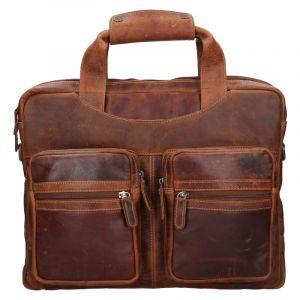 Pánská kožená taška přes rameno Greenwood Jason – hnědá 19314