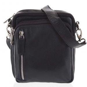 Černá pánská kožená taška na doklady – Tomas Svemir černá 191962