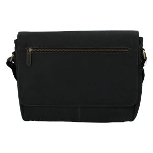 Pánská kožená taška černá – Tomas Woodoo Two černá 257251