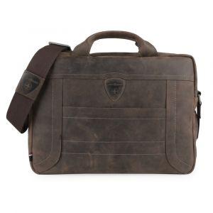 Strellson Pánská kožená taška přes rameno Hunter 4010002639 – tmavě hnědá p43700