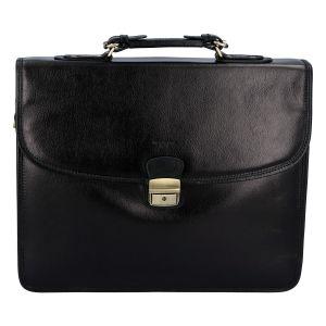 Luxusní pánská kožená aktovka černá – Hexagona Ruperto černá 257731