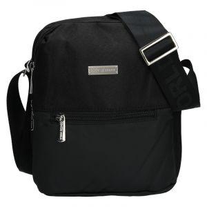 Pánská taška přes rameno Coveri World Nathan – černá 110119