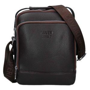 Pánská taška přes rameno Coveri World Leon – tmavě hnědá 110113