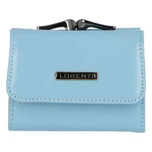 Malá kožená peněženka světle modrá – Lorenti 5287N modrá 257965