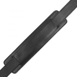 Kožený popruh na tašku – černý vachetta p6963