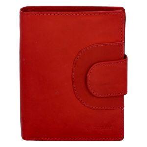 Pánská kožená prošívaná peněženka červená – Diviley Universe červená 258331