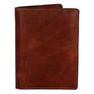 Pánská kožená peněženka hnědá – Tomas Palac hnědá 258236