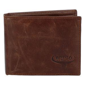 Pánská kožená peněženka hnědá – WILD Gogh hnědá 258343