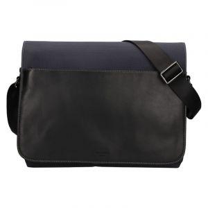 Pánská taška přes rameno Hexagona Davon – černo-modrá 110309