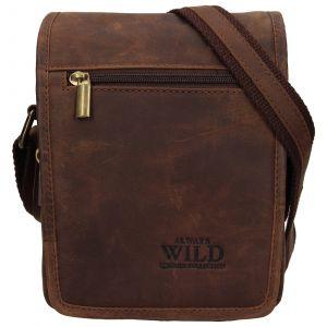 Pánská taška přes rameno Always Wild Vilden – hnědá 110305