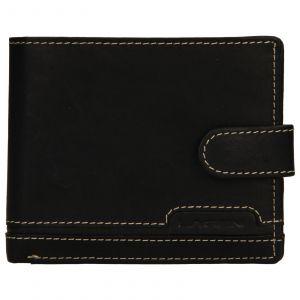 Pánská kožená peněženka Lagen Marien – černá 110280