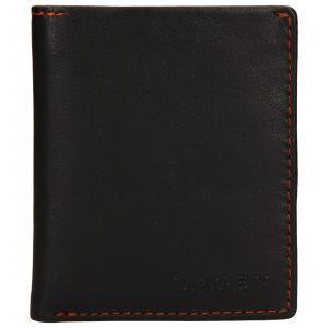 Pánská kožená peněženka Lagen Patrik – tmavě hnědá 110273