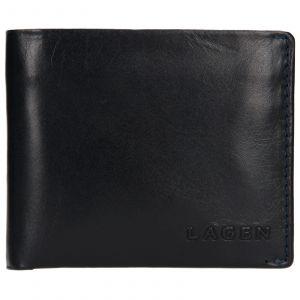 Pánská kožená peněženka Lagen Dalimil – modrá 110248