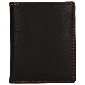 Pánská kožená slim peněženka Lagen Revo – hnědá 110231