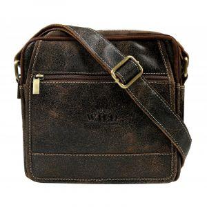 Pánská taška přes rameno Always Wild Didie – hnědá 110210