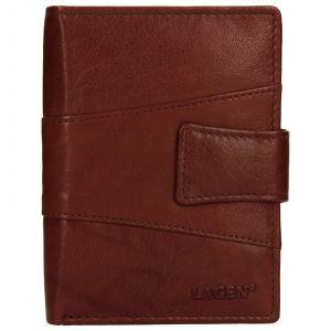 Pánská kožená peněženka Lagen Conor – hnědá 110197