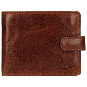 Pánská kožená peněženka Lagen Mareto – světle hnědá 110161