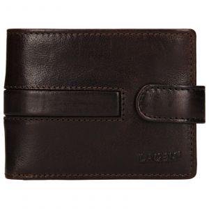 Pánská kožená peněženka Lagen Vander – tmavě hnědá 110156