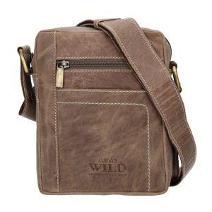 Pánská taška přes rameno Always Wild Fredy – světle hnědá 16282