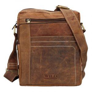 Pánská taška přes rameno Always Wild Frencis – světle hnědá 15916