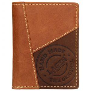 Pánská kožená peněženka Lagen Thore – hnědá 110421