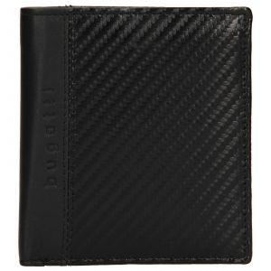 Pánská kožená peněženka Bugatti Leonis – černá 110466