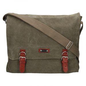 Pánská taška Katana Toile – zeleno-hnědá 14402