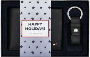 Tommy Hilfiger Dárková sada kožené peněženky a přívěsku Eton Cc Flap And Coin W Key Fob AM0AM05498BDS mth1704