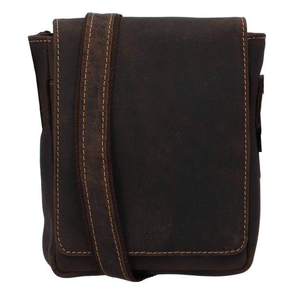 Pánská kožená taška přes rameno Greenwood Petr – hnědá 110505
