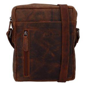 Pánská kožená taška přes rameno Greenwood Vašek – hnědá 110502