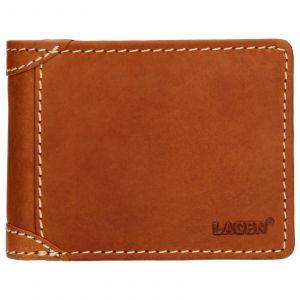 Pánská kožená peněženka Lagen Peter – koňak 110536